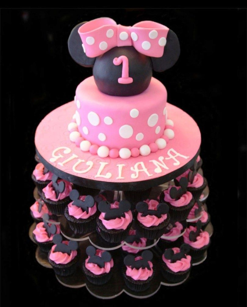 Exclusive Photo Of Minnie Mouse Birthday Cake Ideas Happy Jpg 810x1006 Walmart Decorations