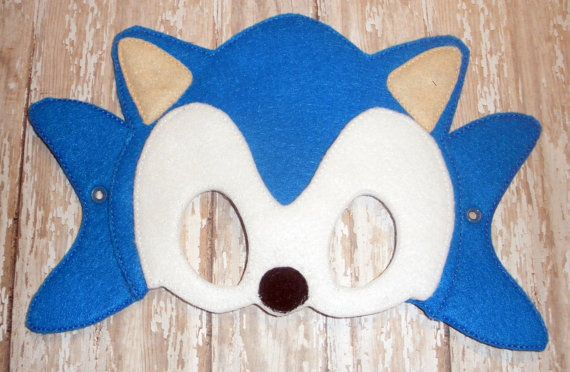 Sonic Mask On Etsy 6 00 Sonic Birthday Sonic Birthday Cake Sonic Party
