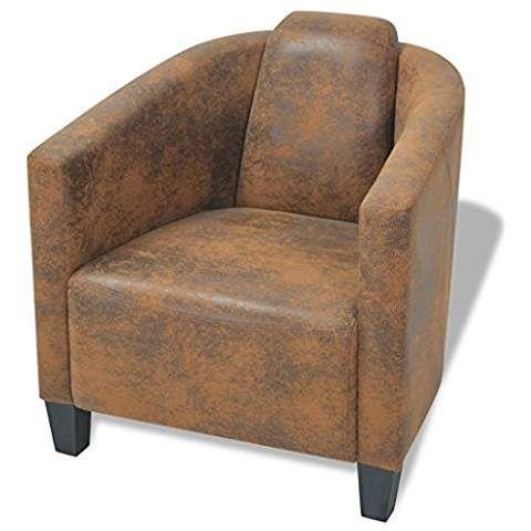 Lounge sessel braun stoff  vidaXL Armsessel Relaxsessel Armsofa Einzelsofa Lounge Sessel Stuhl ...