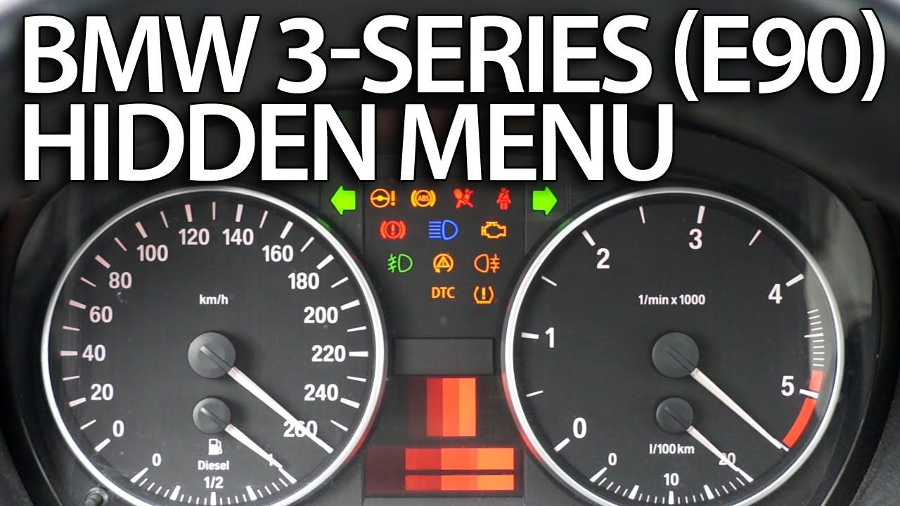 How to enter hidden menu in #BMW #E90 #E91 #E92 #E93 (3