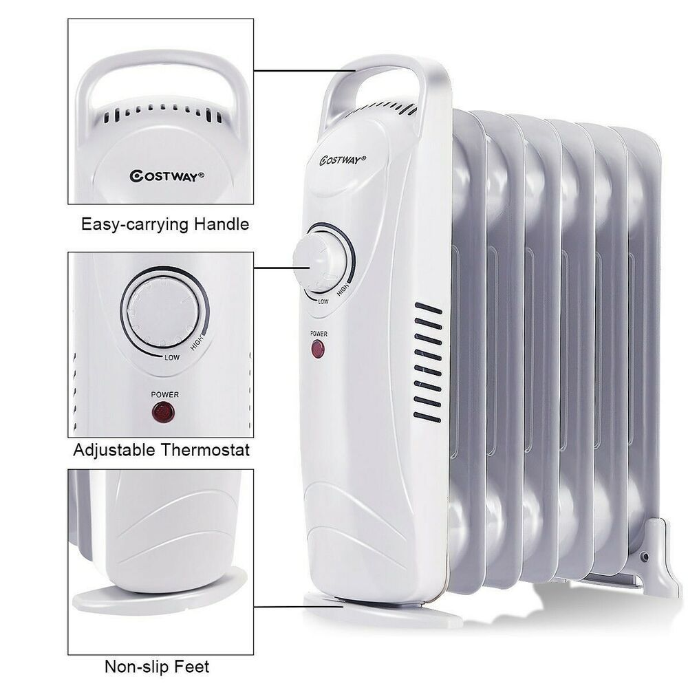 Heater Portable Oil Filled Radiator Electric 700w Mini Room Thermostat Safety Doesnotapply Oil Filled Radiator Room Thermostat Radiators