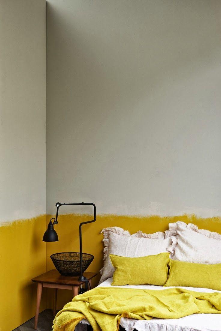 jaune pour la chambre  Idée déco chambre