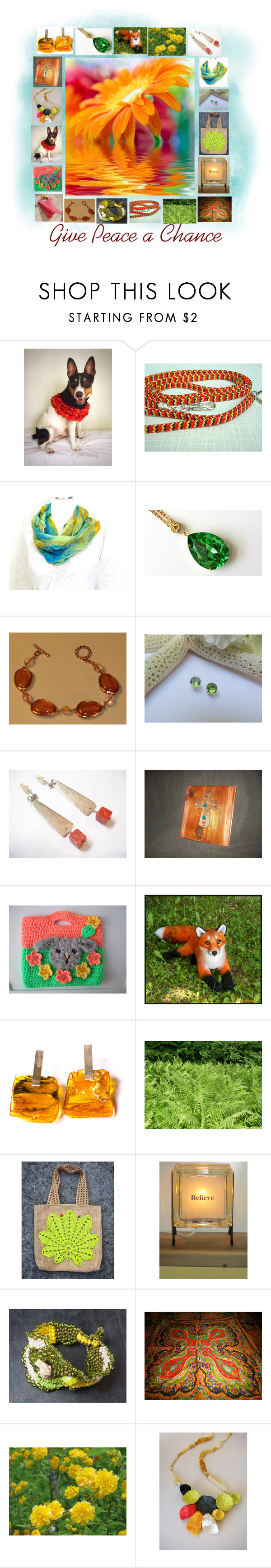 """Give Peace a Chance: Handmade & Vintage Gift Ideas"" by paulinemcewen on Polyvore featuring rustic, vintage and country"