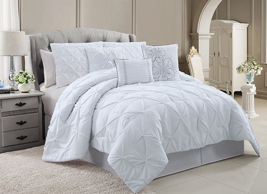 chic emma 6 or 7 piece luxury comforter set