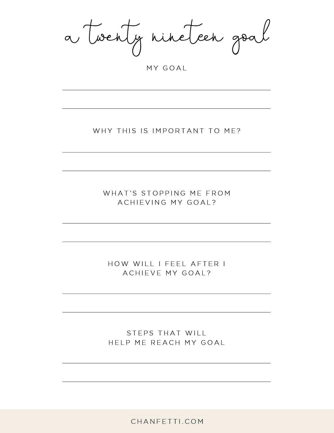 New Year S Resolution Printable Worksheets