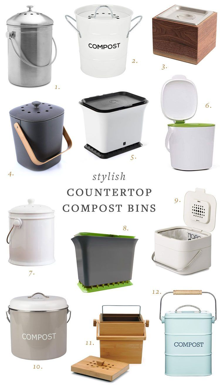 My Search For A Stylish Countertop Compost Bin Kitchen Compost Bin Compost Container Compost