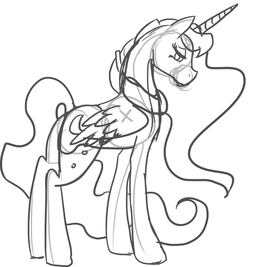 [+] My Little Pony Coloring Pages Nightmare Moon