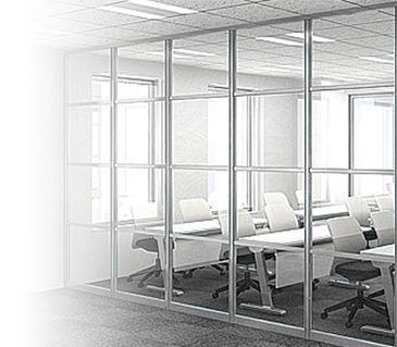 施工型ガラスパーテーション ガラスパーテーション パーテーション