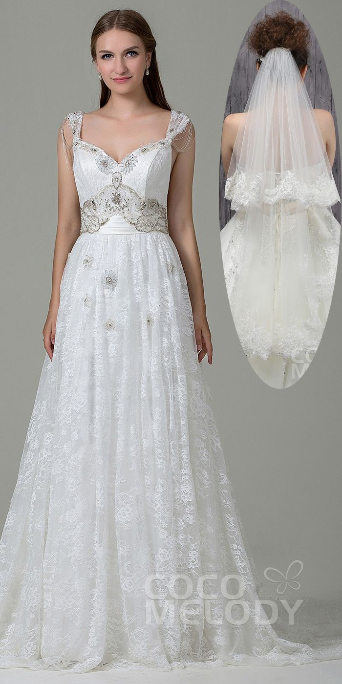 Open back wedding dresses lace  Classic SheathColumn Straps Natural Court Train Lace and Satin