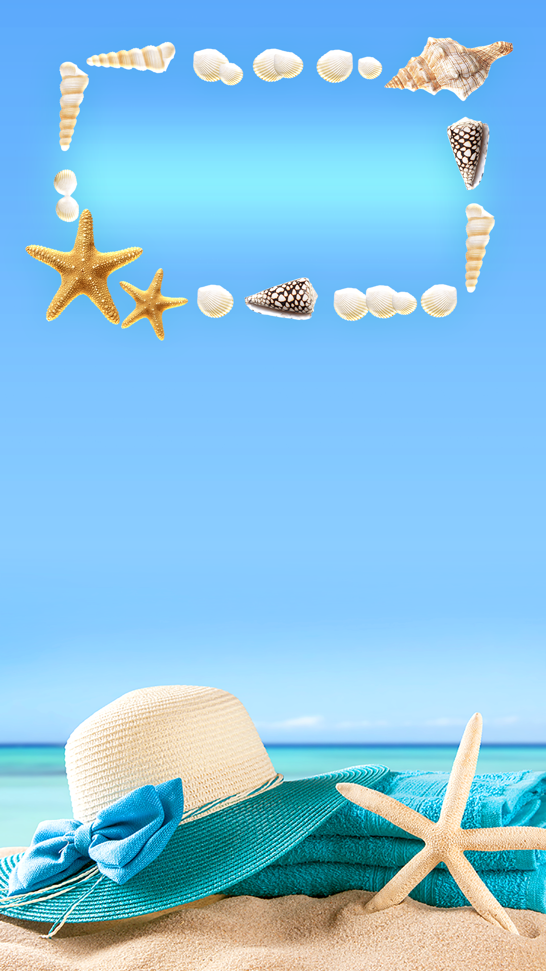 Tap And Get The Free App Lockscreens Art Creative Sky Water Sun Beach Chill Hat Star Blue Hd Iphone 6 Plus Lock Screen Achtergronden Op Het Strand Wallpaper