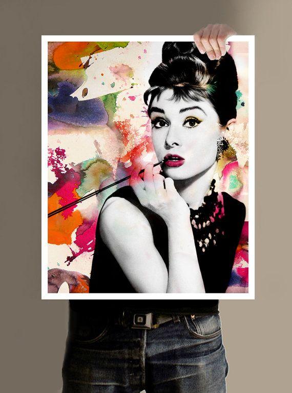 Audrey Hepburn Wall Art Dorm Room Art By PersonalPosters4U, $29.00