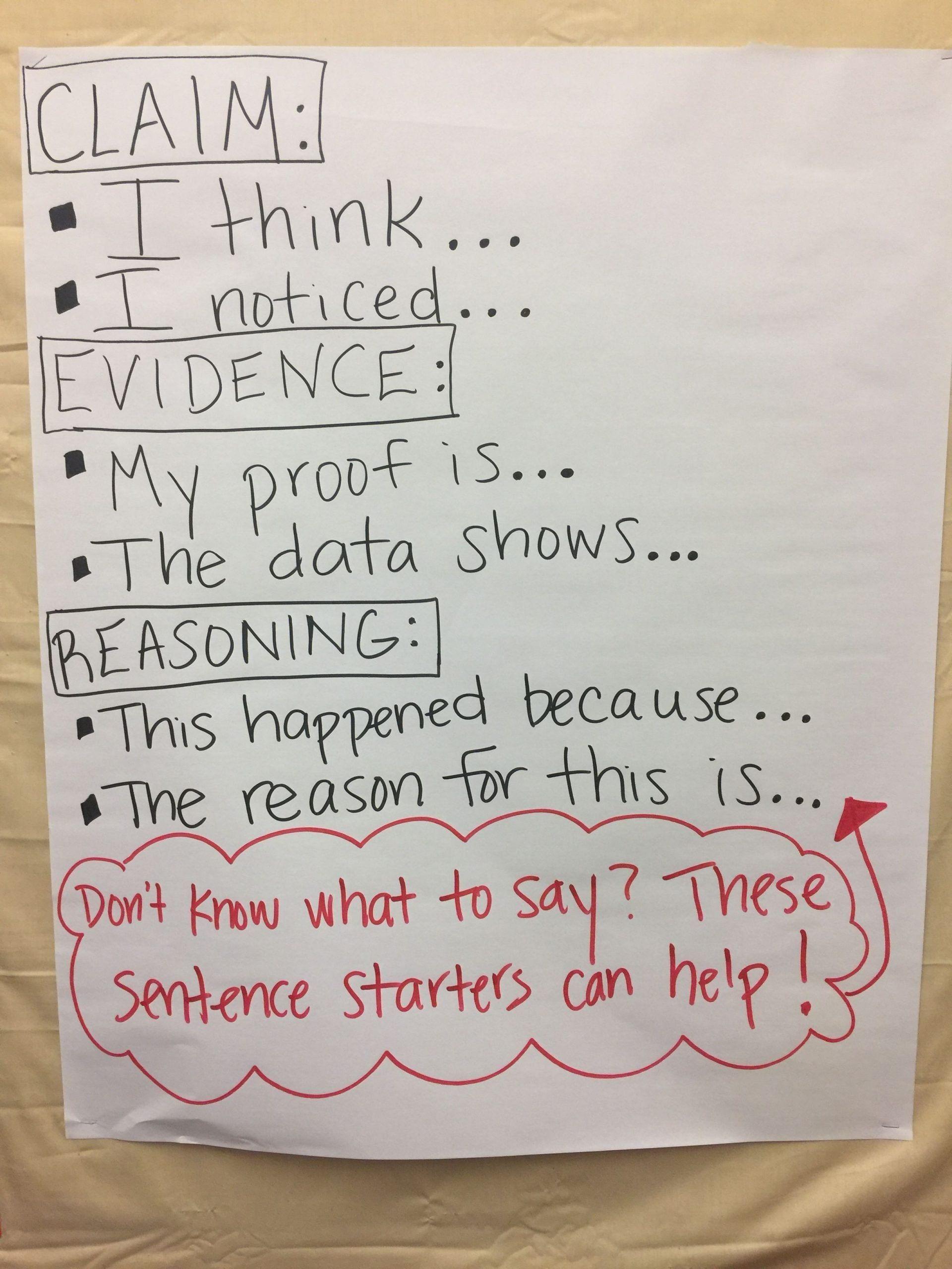 Claim Evidence Reasoning Science Worksheet Claim Evidence