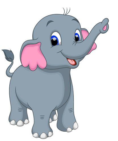 lovely cartoon elephant vector material 12 pinterest rh pinterest com clipart elephant in the room Elephant in the Room Expression