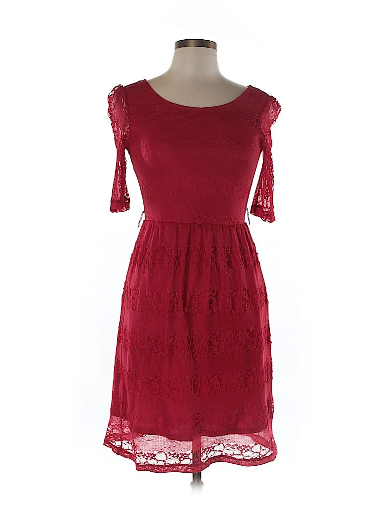Red dress thred up