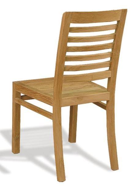 Silla de comedor RUSTIC de Bambó Blau. De madera de teca rayada ...