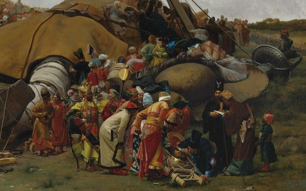 Jehan Georges Vibert (French, 1840-1902) - Gulliver and the lilliputhians detail 2