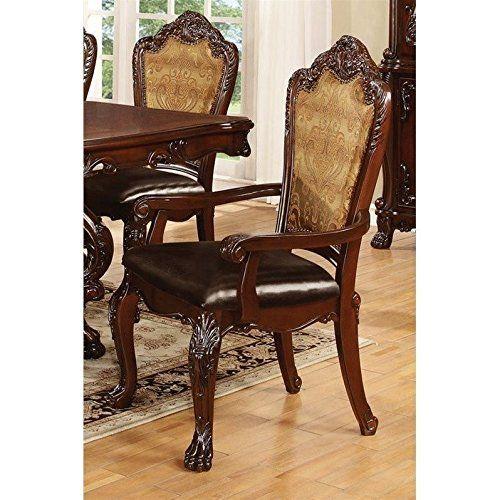 Coaster 105513 Home Furnishings Arm Chair (Set Of 2), Dark