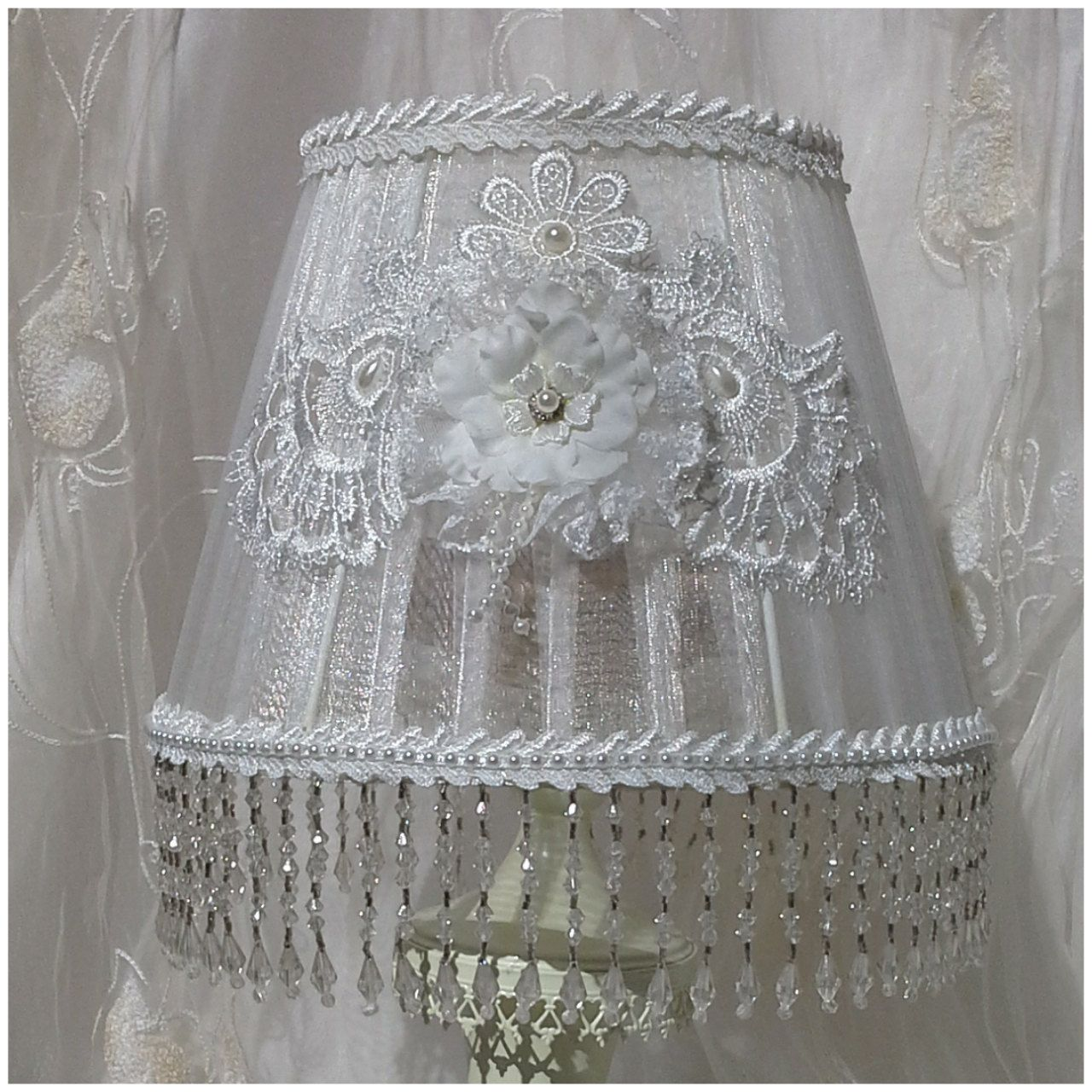 Shabby chic lampshade organza lampshade white lampshade lacey shabby chic lampshade organza lampshade white lampshade lacey lamp shade bedroom lampshade home decor bedroom decor lamp shades by aligri on etsy aloadofball Choice Image