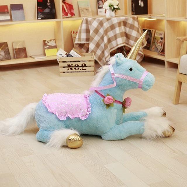 100cm Huge Cute Unicorn Horse Plush Toys Jumbo Size Colorful Stuffed Animal Doll