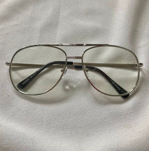 bfdc757125 Clear Aviator Nerd Glasses 80s Glasses Non Prescription