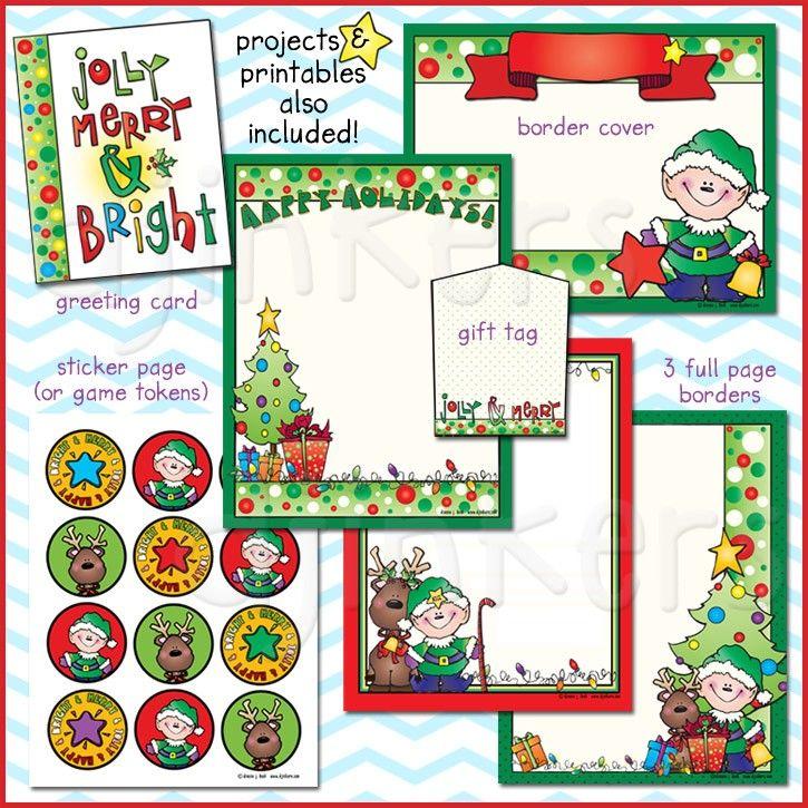 Christmas Border Holiday Elf Cute Kids Holidays