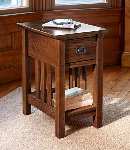 Mission Side Table End Tables Free Shipping At L L Bean Mission Furniture Craftsman Style Furniture Mission Style Furniture