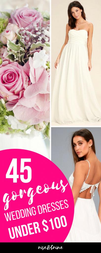 45 Wedding Dresses UNDER 100 Budget Wedding Planning