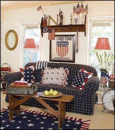 Decorating Theme Bedrooms   Maries Manor: Primitive Americana Decorating  Style   Folk Art   Heartland