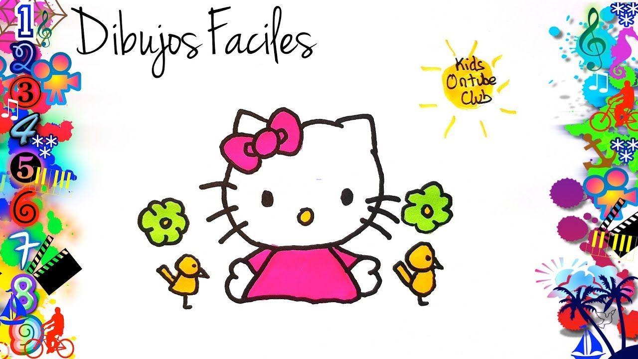 Como Dibujar A Hello Kitty Facil Para Ninos Dibujos Faciles Para Ninos Dibujos Faciles Para Ninos Dibujos Faciles Dibujos Para Ninos