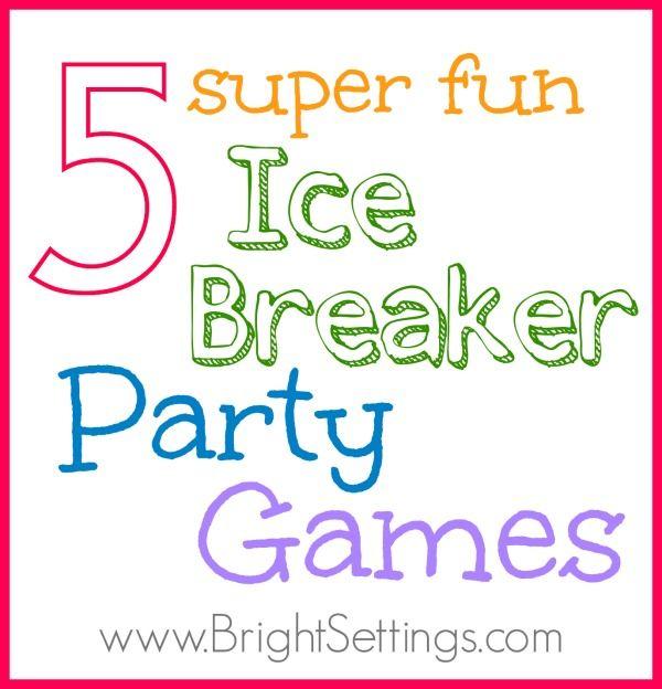 Ice breakers games adult