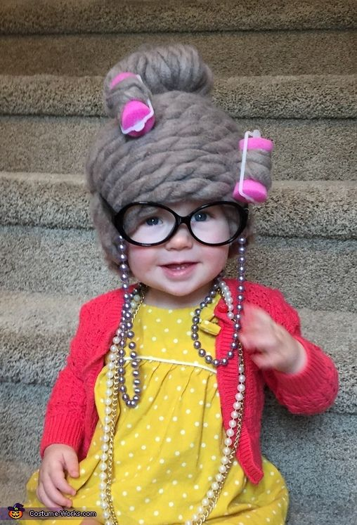 Denille Happy Halloween 2016! I made granny wigs for my 16 month-old daughter Hannah and her 11 month-old cousin Avaya. I bought cotton baby toques from ... & Little Granny - Halloween Costume Contest at Costume-Works.com ...
