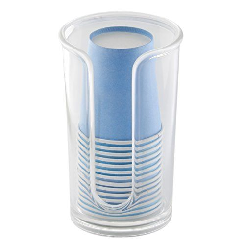 Mdesign Disposable Paper Cup Dispenser For Bathroom Countertops