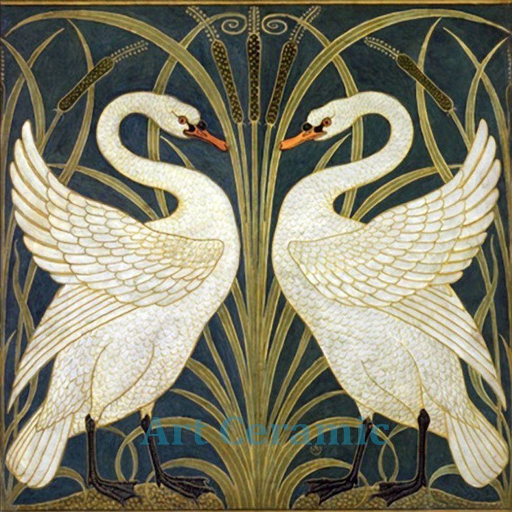 Art Nouveau Ceramic decorative wall tile 6 X 6 Inches #28 ...