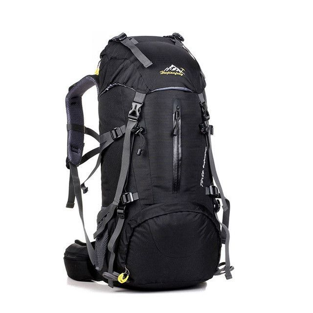 e714f9ff2f87 Waterproof Outdoor Sport Hiking Trekking Camping Travel Backpack  Mountaineering and Climbing Knapsack with Rain Cover Black     You can find  out more ...