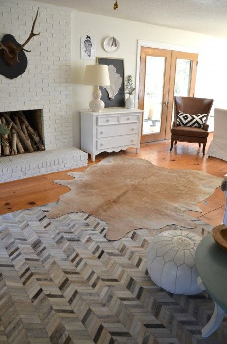Layered Cowhides Amp Also Oysters Cow Hide Rug Floor Rugs