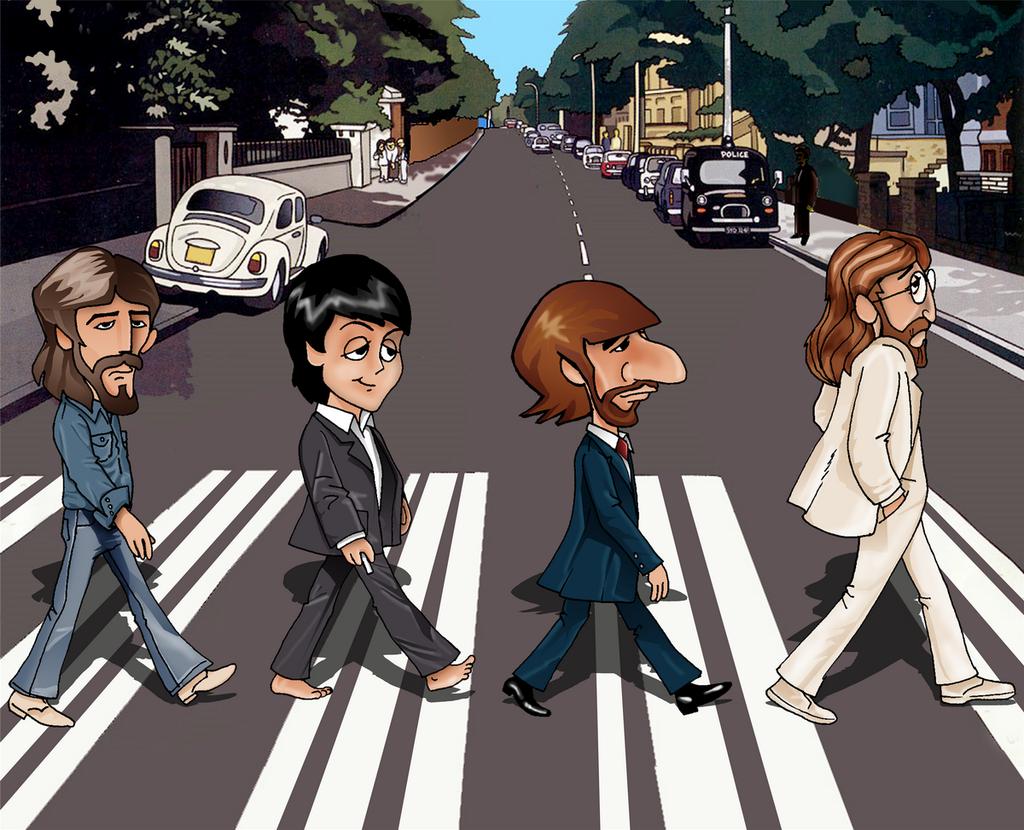 The Beatles' Abbey Road cartoons   Beatles cartoon, The ...