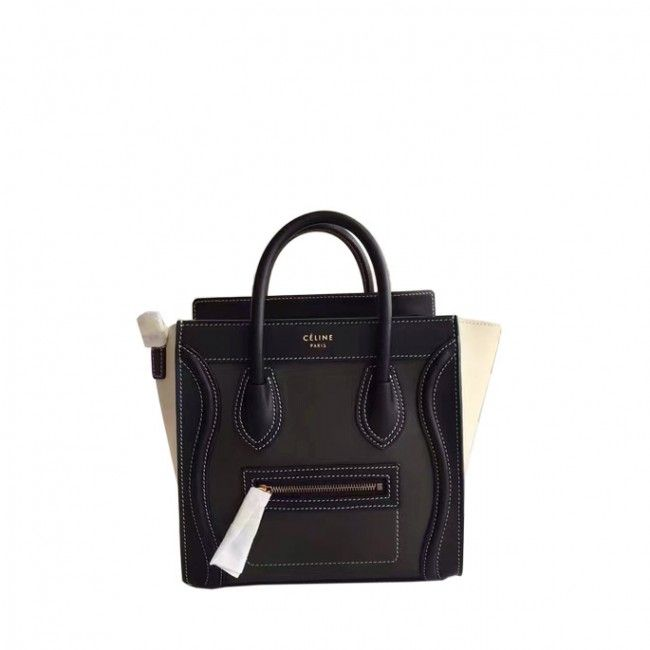 6e0e84c5fd Original quality Celine new nano luggage handbag in porcelain multicolour  baby grained calfskin