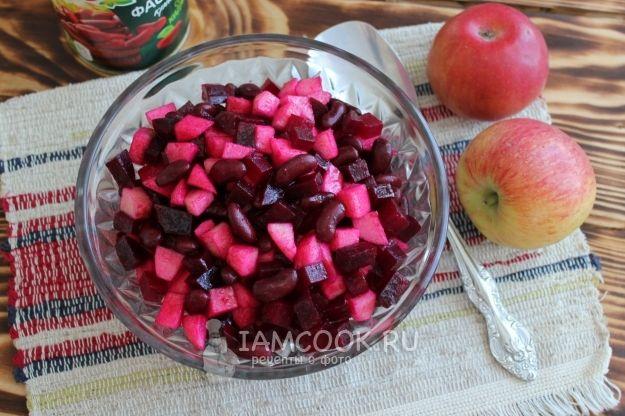 Салат из свеклы с фасолью и яблоком | Рецепт | Свекла ...
