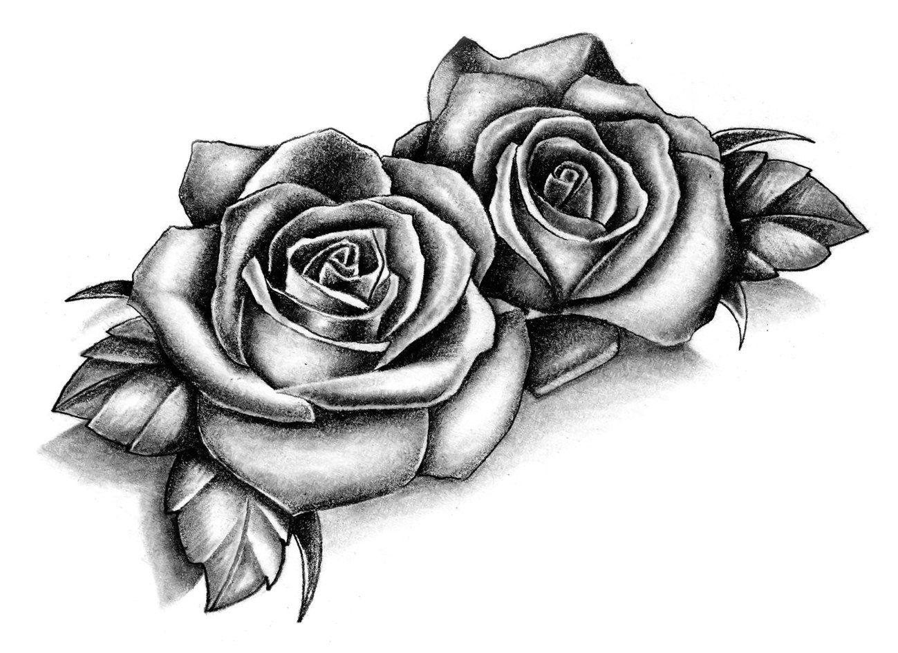 Sets Roses Temporary Tattoos Tatouage Rose Tatouage Rose Dessin Tatouage Fleur Poignet