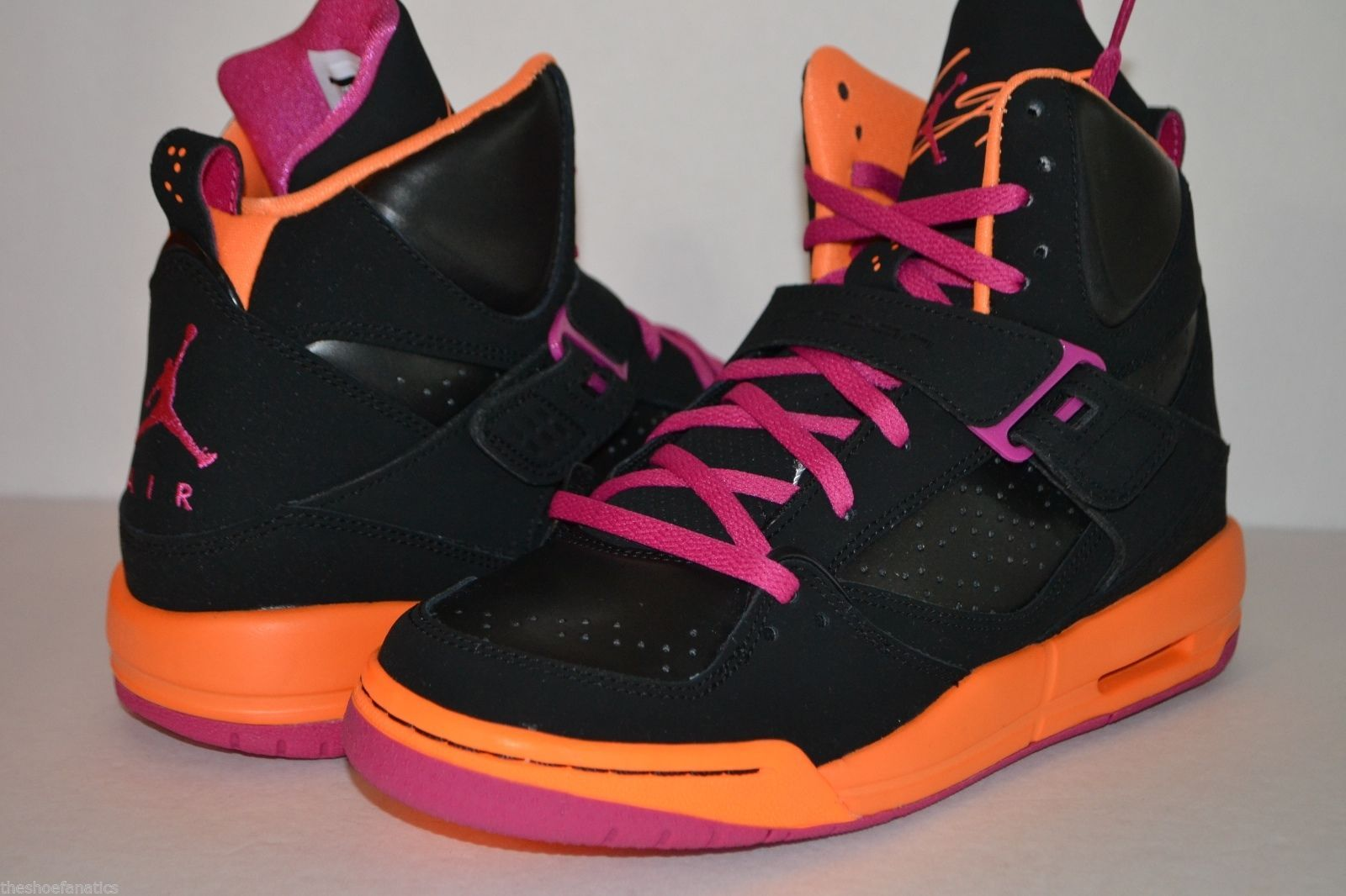 fbb7ddddd0f6e6 NIKE AIR JORDAN FLIGHT 45 HIGH SIZE 6.5Y WOMENS 8 BLACK PINK ORANGE  524864-028