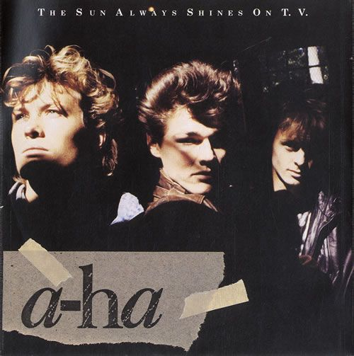 A-Ha The Sun Always Shines On TV - p/s UK 7 vinyl single (7 inch record) #lowalbum