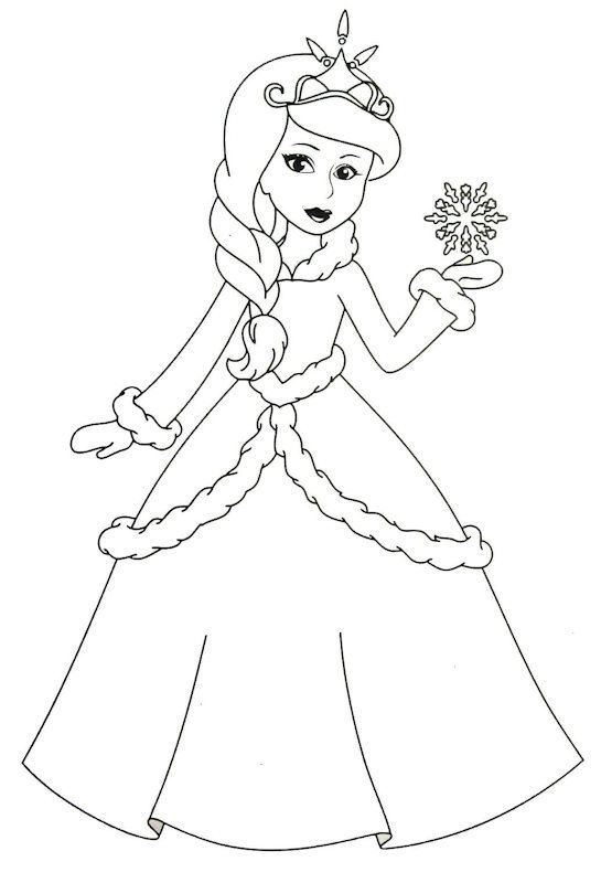 Color The Princess With Your Favorite Colors Princess Coloring Pages Barbie Drawing Princess Coloring