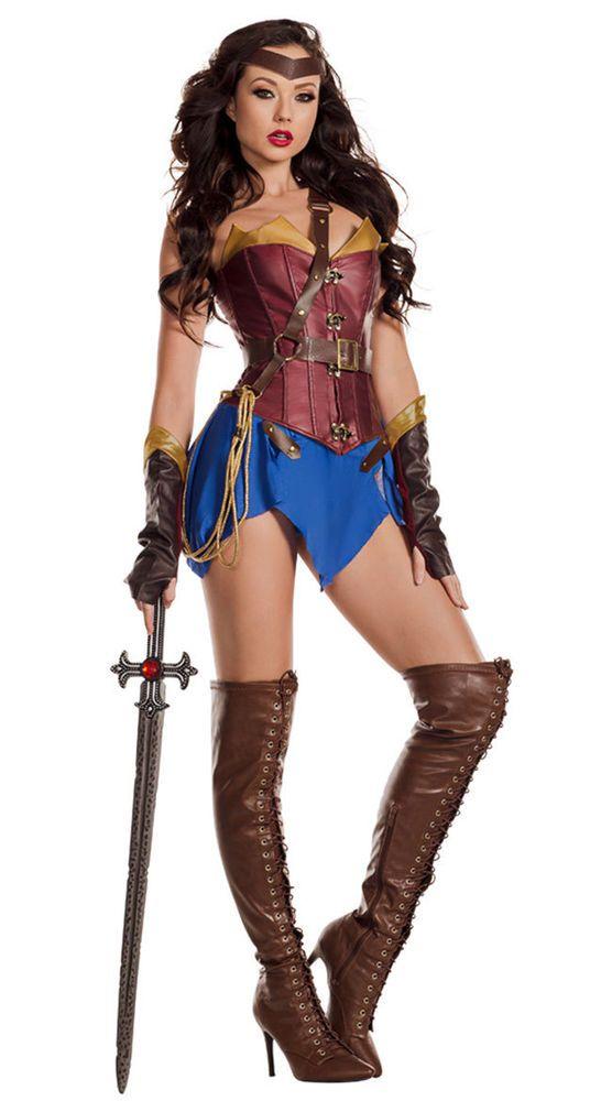 7119ac23fbb Adult Sexy Wonder Woman Hero GLAMAZONIAN COSTUME NWT S M L Amazon ...