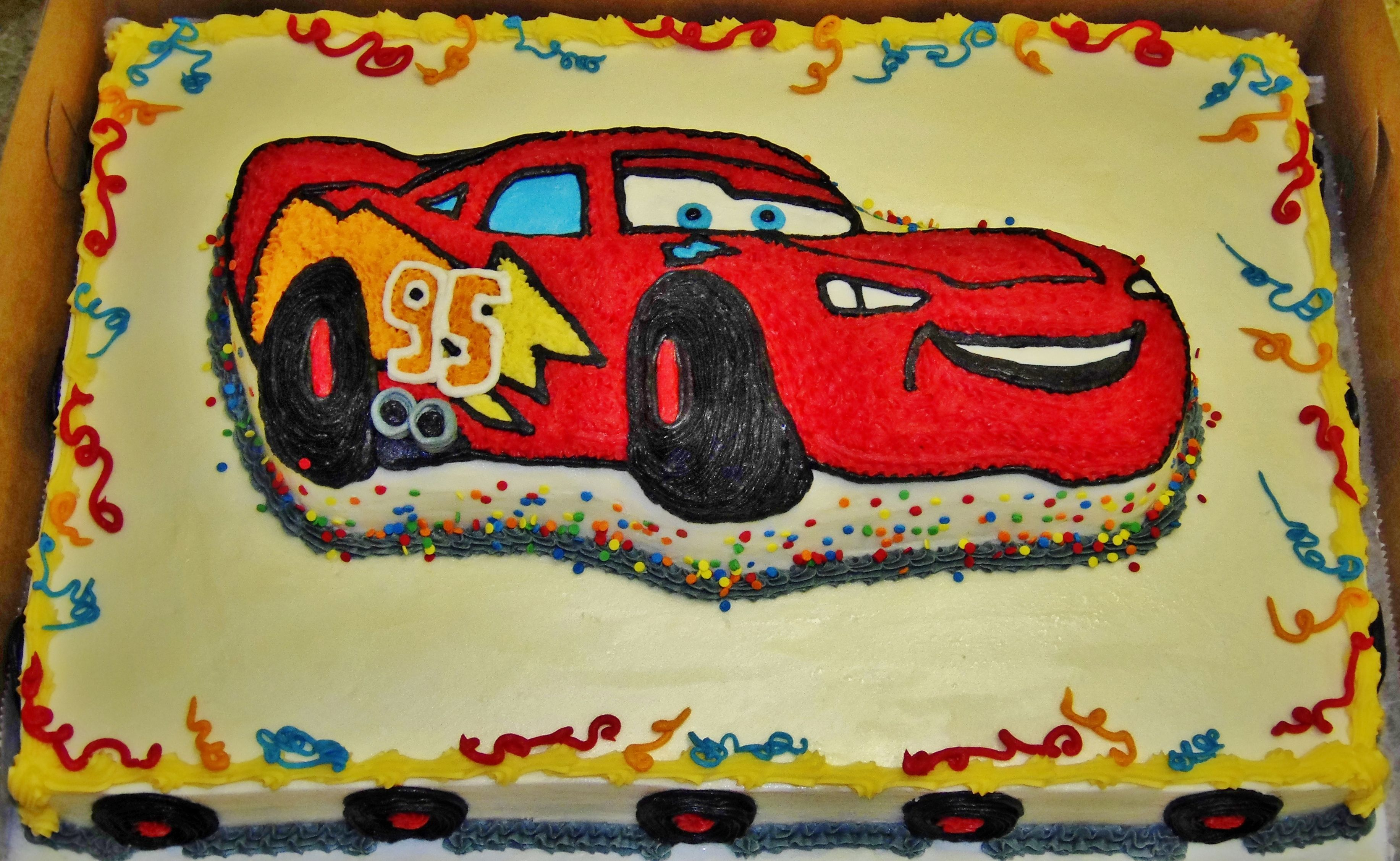 CARS cake design in 100% buttercream~ | Children's Birthday cakes ...