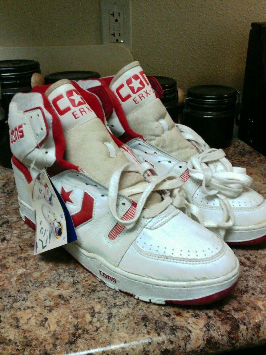 4ddd08a2f859 Vintage 1980 s Converse Cons ERX 200 Basketball Shoes Sz 17