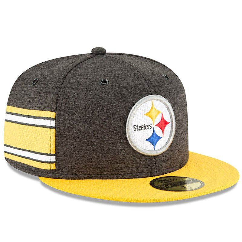 20872793f8aa56 Pittsburgh Steelers New Era 2018 NFL Sideline Home Official 59FIFTY Fitted  Hat – Black/Gold