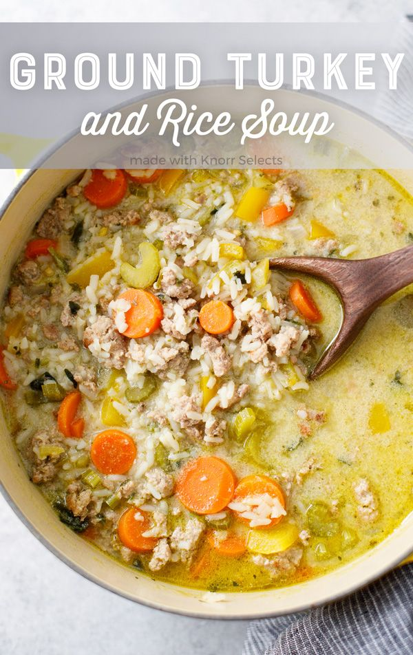 Ground Turkey and Rice Soup