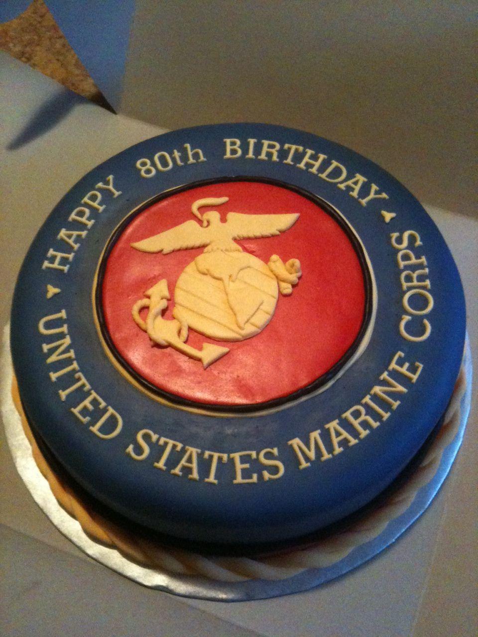 Marine Corps Birthday Cake Semper Fi Food Drink Pinterest