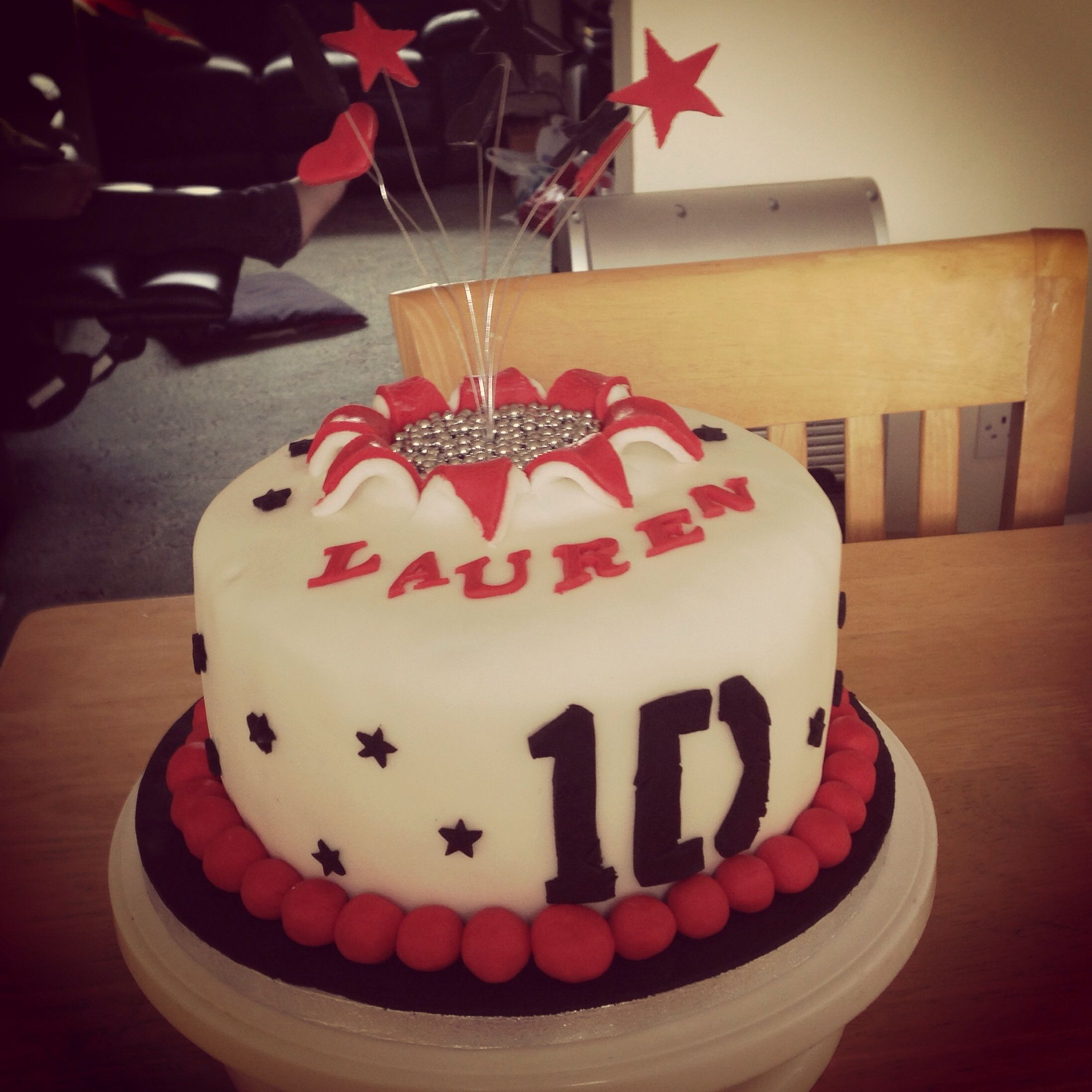 One Direction hidden surprise explosion cake Baked with Oreo