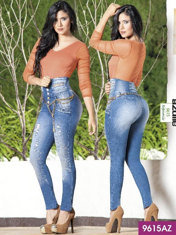 Costillero Levantacola Colombiano Azulle Ref 232 9615az Jeans De Moda Moda De Ropa Jeans Y Tacones